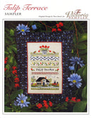 The Victoria Sampler - Tulip Terrace Sampler Pillow - Student Kit (S_NE)  - needlework design company