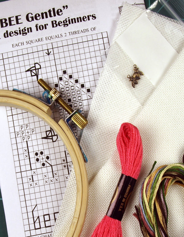 The Victoria Sampler - Introduction to Cross Stitching on Linen - Student Starter Kit  - needlework design company