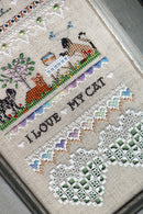 The Victoria Sampler - I Love My Cat Sampler Leaflet  - needlework design company