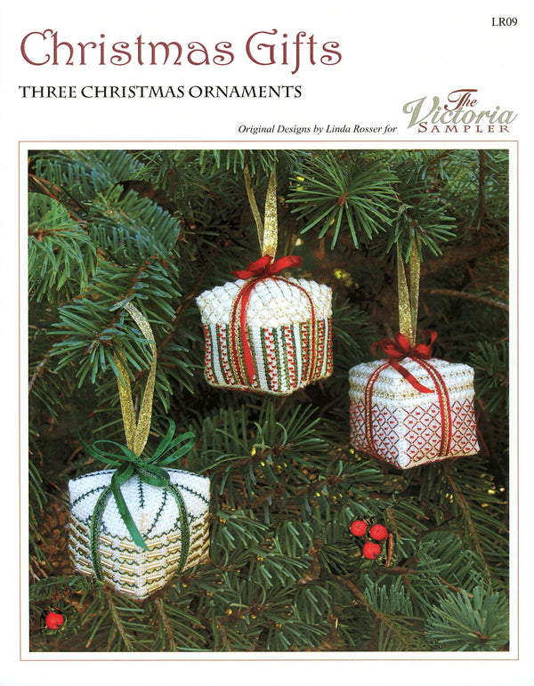 The Victoria Sampler - Christmas Gift Ornaments Chart  - needlework design company