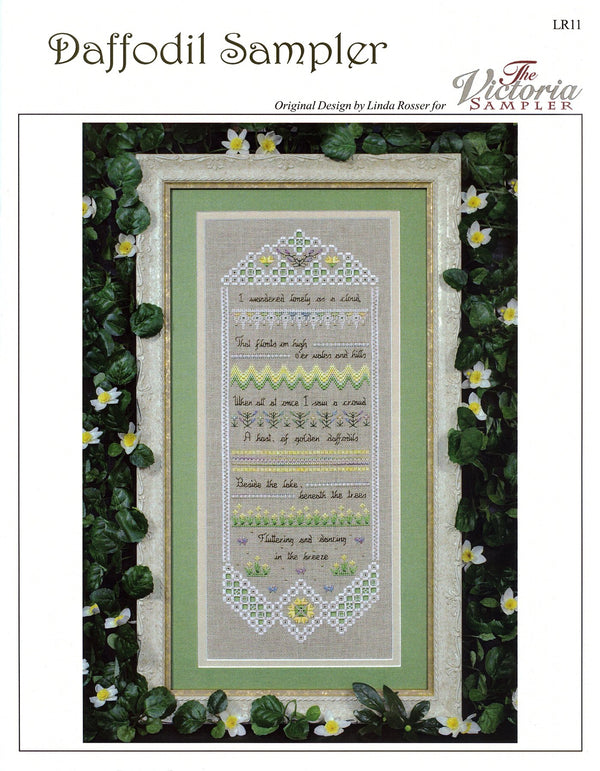 The Victoria Sampler - Daffodil Sampler Chart  - needlework design company