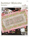 The Victoria Sampler - Summer Welcome Banner Chart  - needlework design company