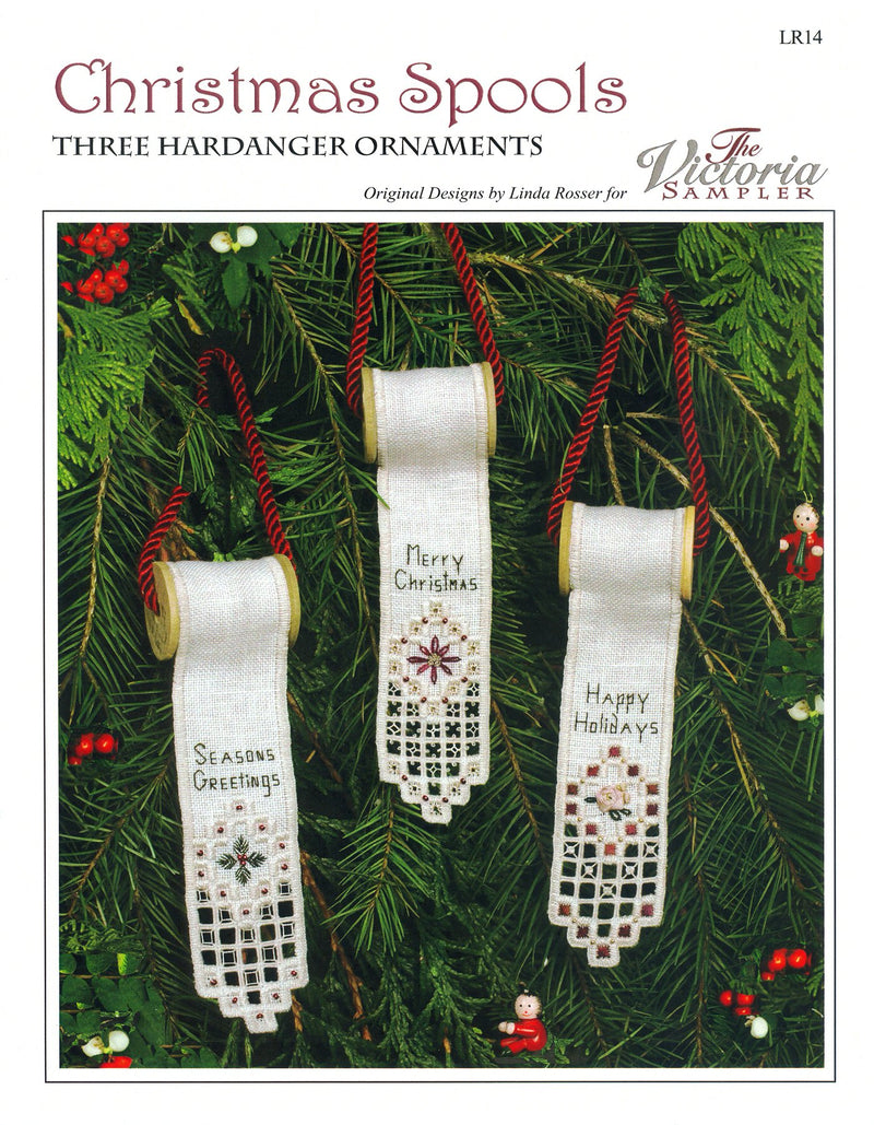 The Victoria Sampler - Christmas Spools Chart  - needlework design company