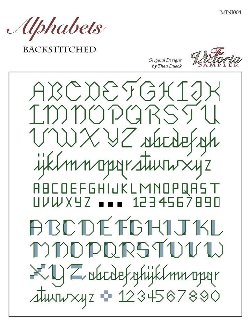Alphabets - Backstitched (Downloadable PDF)