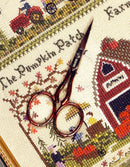 "The Victoria Sampler - Giakarta 3.5"" Bohin Hardanger Scissors - red and gold  - needlework design company"