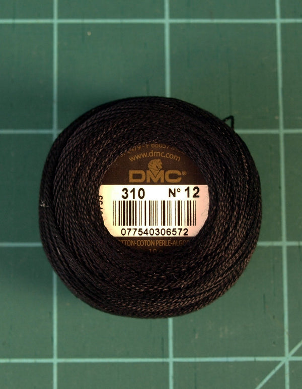 The Victoria Sampler - DMC #12 Perle Cotton #310 Black - 120M Pack (S_NE)  - needlework design company