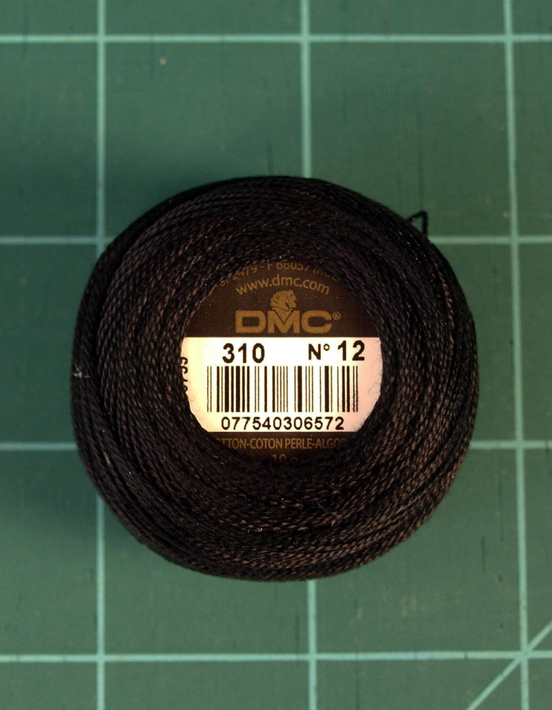DMC #12 Perle Cotton #310 Black - 120M Pack (S_NE)