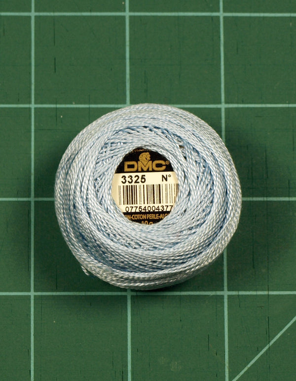 The Victoria Sampler - DMC #8 Perle Cotton #3325 Baby Blue - 87M Pack (S_NE)  - needlework design company
