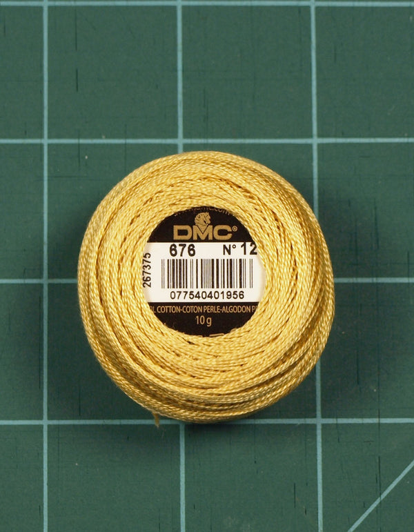 The Victoria Sampler - DMC #12 Perle Cotton #676 Old Gold - 120M Pack (S_NE)  - needlework design company