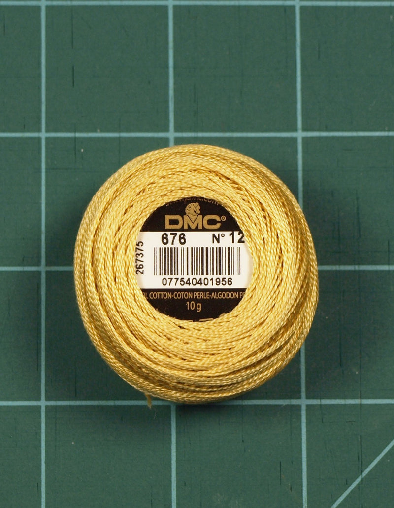 DMC #12 Perle Cotton #676 Old Gold - 120M Pack (S_NE)
