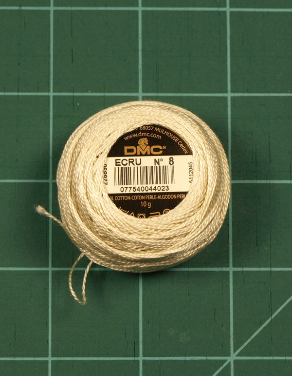 The Victoria Sampler - DMC #12 Perle Cotton #ECRU - 120M Pack (S_NE)  - needlework design company