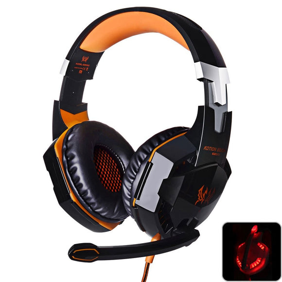 Gaming Headset Deep Bass with microphone LED Light