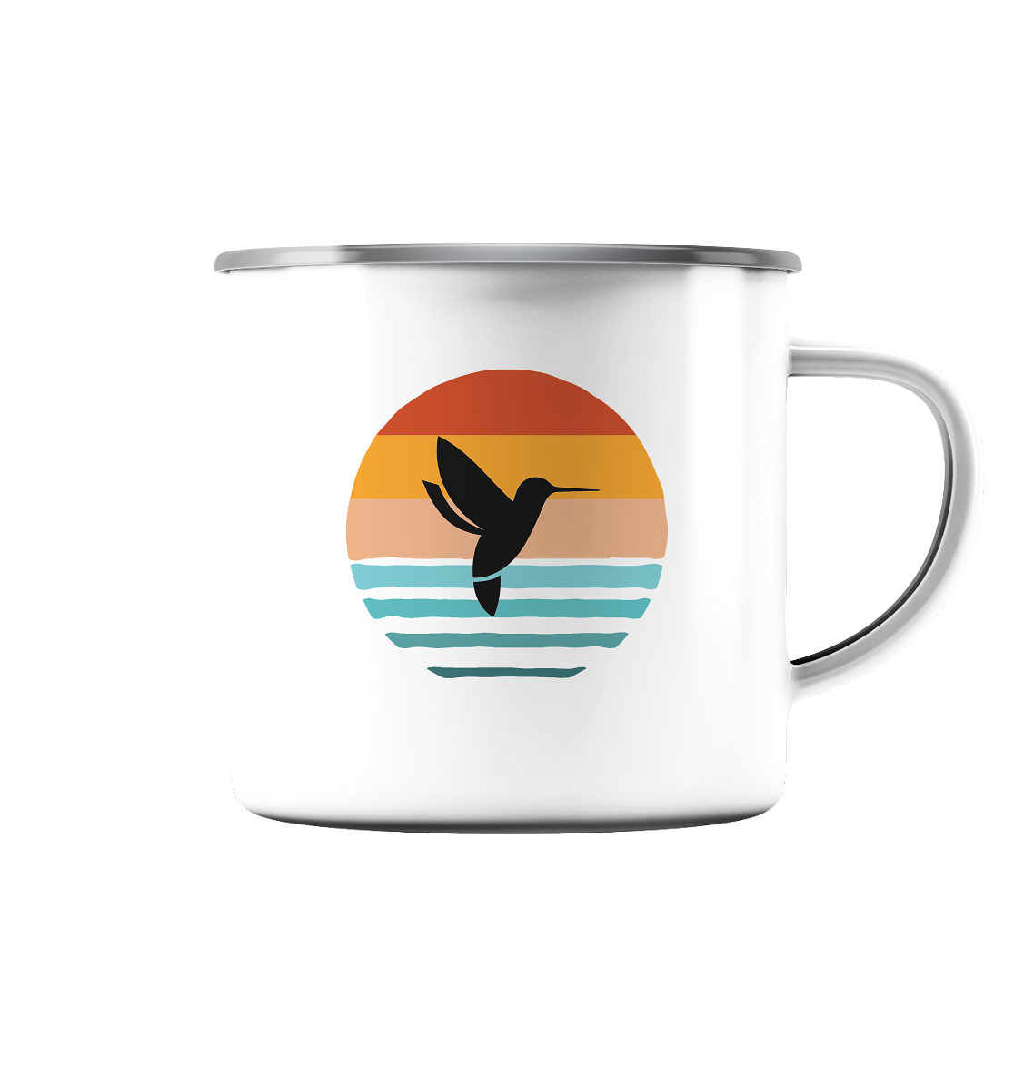 Retro Bird- Emaille Tasse