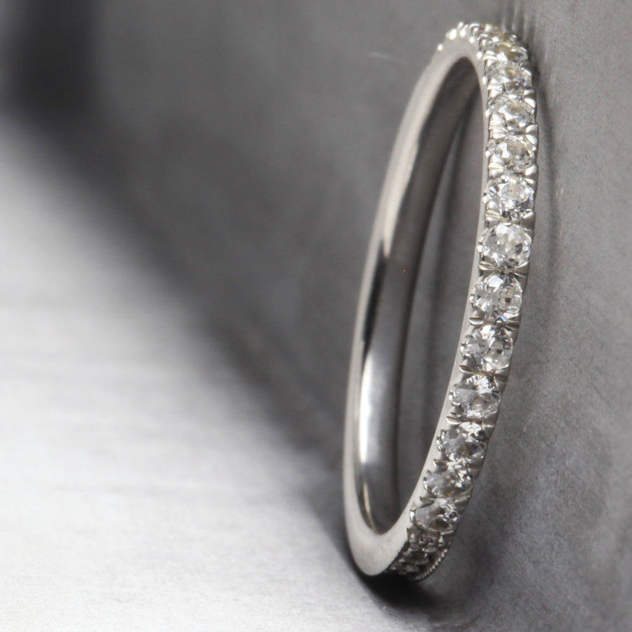 CAMILLE RING - WHITE GOLD WITH WHITE DIAMONDS