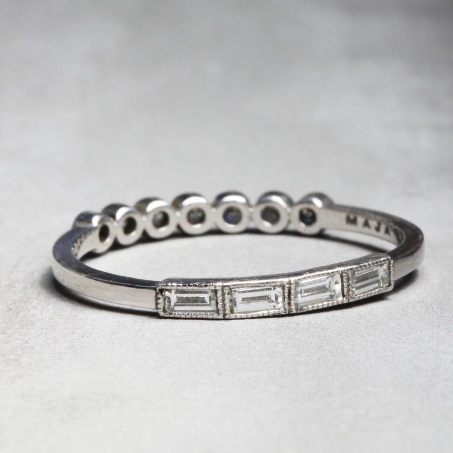 MILA RING - WHITE GOLD WITH WHITE DIAMONDS
