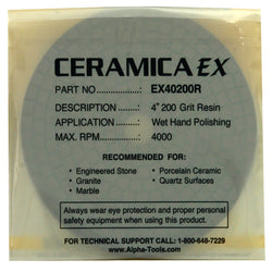 Alpha Ceramica EX Diamond Polishing Pads 4""