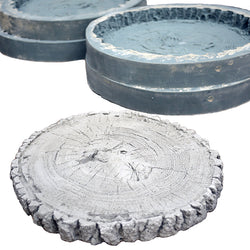 Large round wood block paver stepping stone
