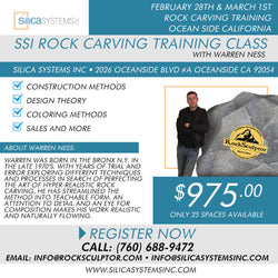 SSI Rock Carving Training Class with Warren Ness