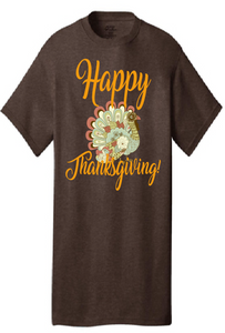 Short Sleeve Happy Thanksgiving Shirt