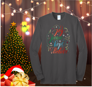 Joy Peace Hope Believe Long Sleeve