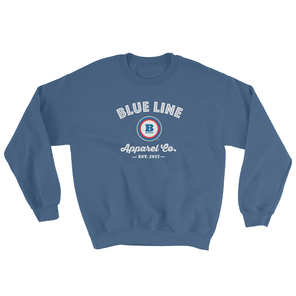 Blue Line Apparel Co. Crewneck Sweatshirt - Indigo Blue