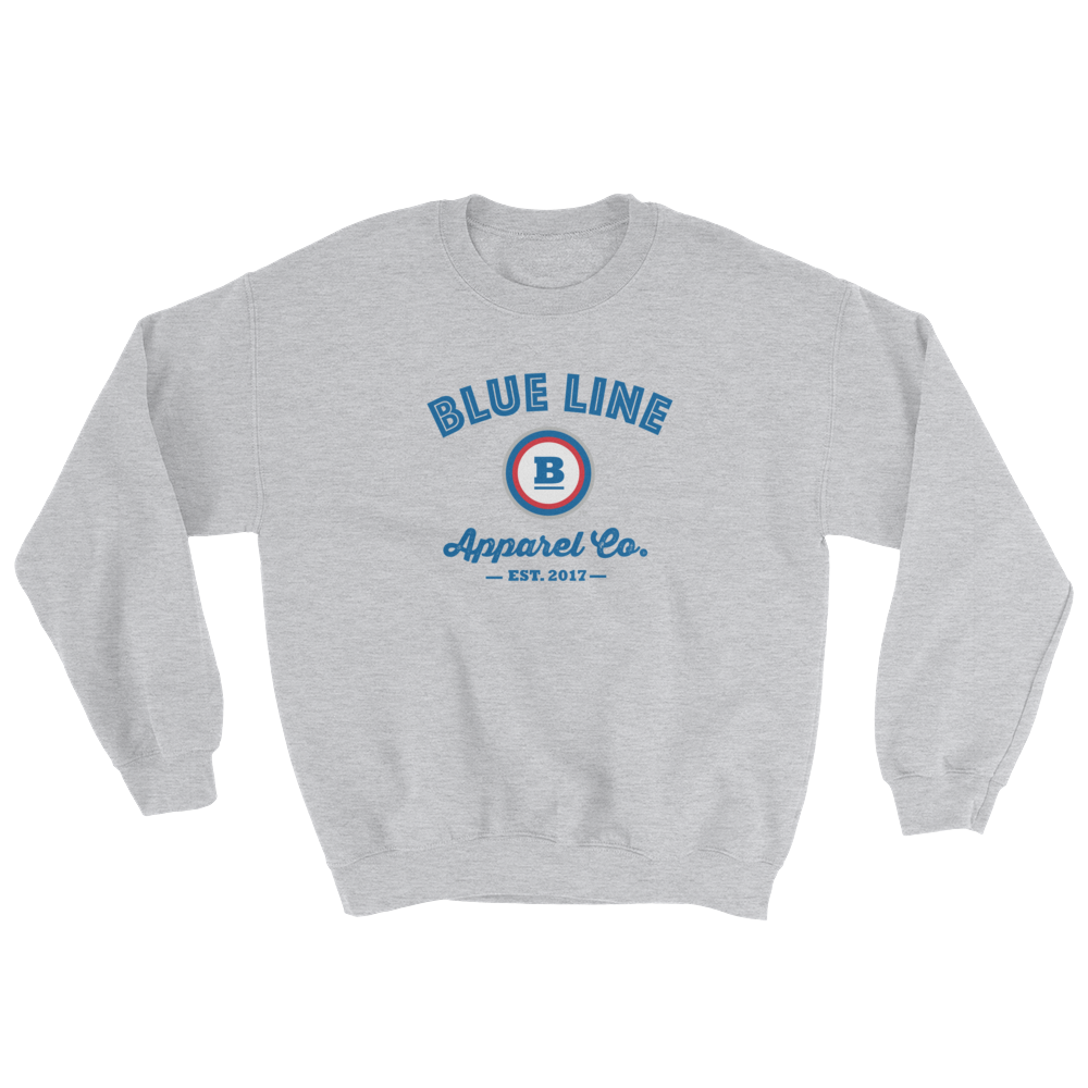 Blue Line Apparel Co. Crewneck Sweatshirt - Sport Grey