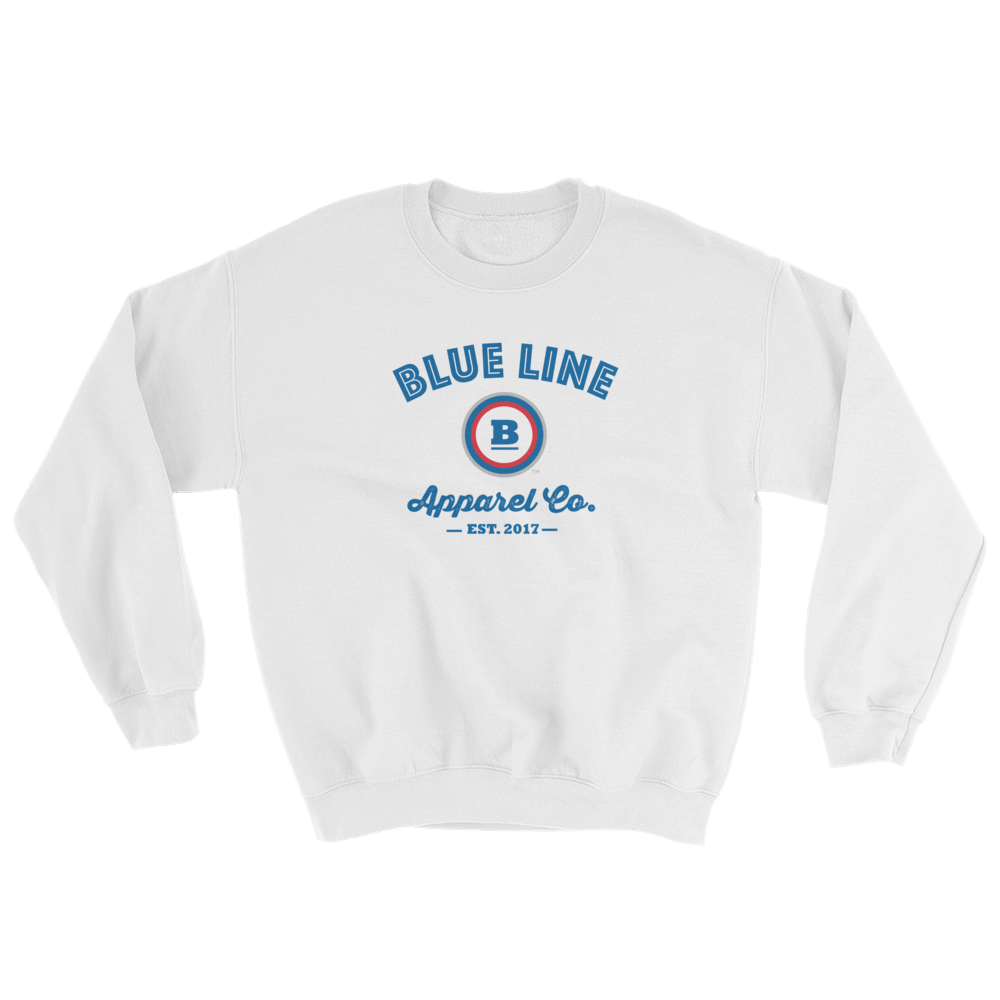 Blue Line Apparel Co. Crewneck Sweatshirt - White