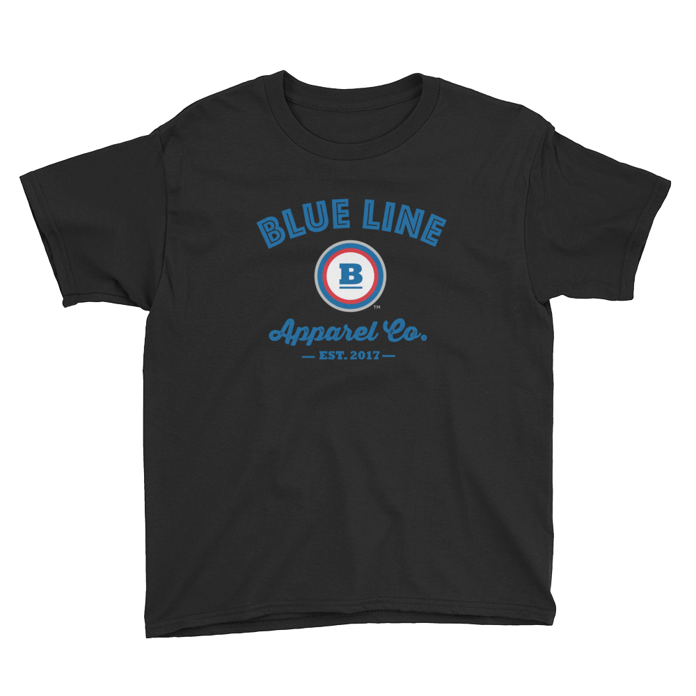 Blue Line Apparel Co. Youth T-Shirt - Black
