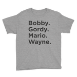 Blue Line Names #2 Youth T-Shirt - Heather Grey