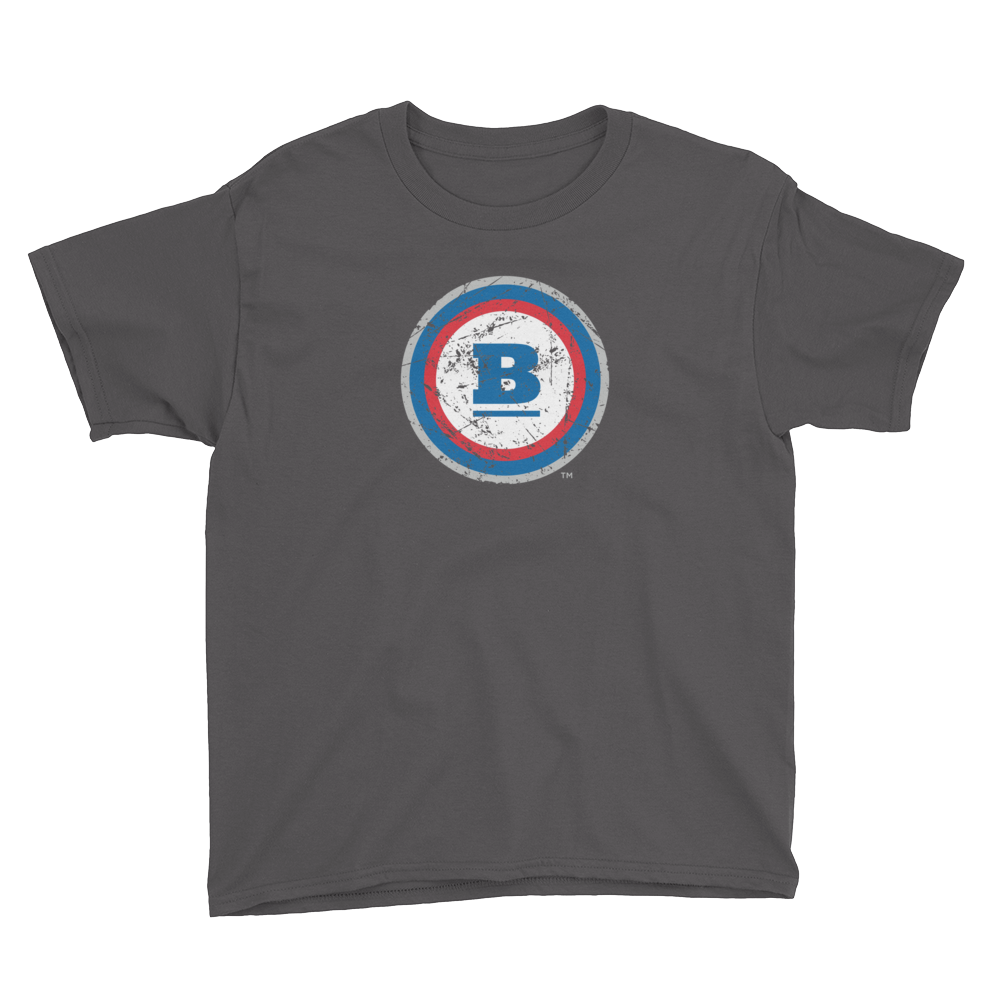 Circle B Ice Youth T-Shirt - Charcoal