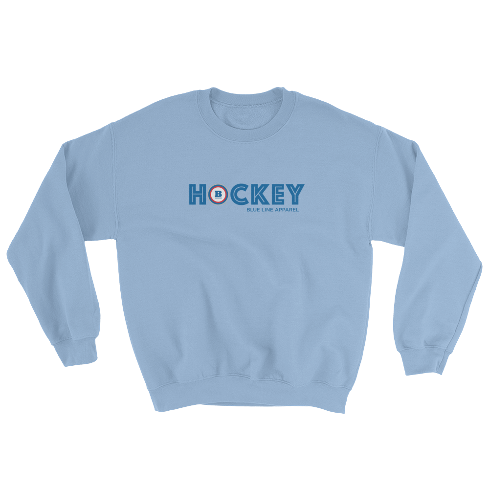 Hockey Crewneck Sweatshirt - Light Blue