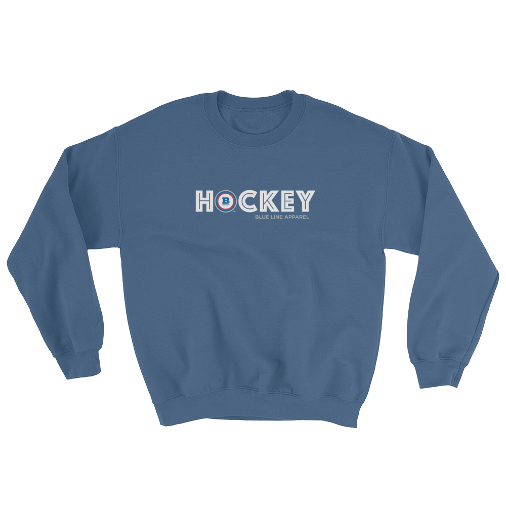 Hockey Crewneck Sweatshirt - Indigo Blue