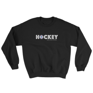 Hockey Crewneck Sweatshirt - Black