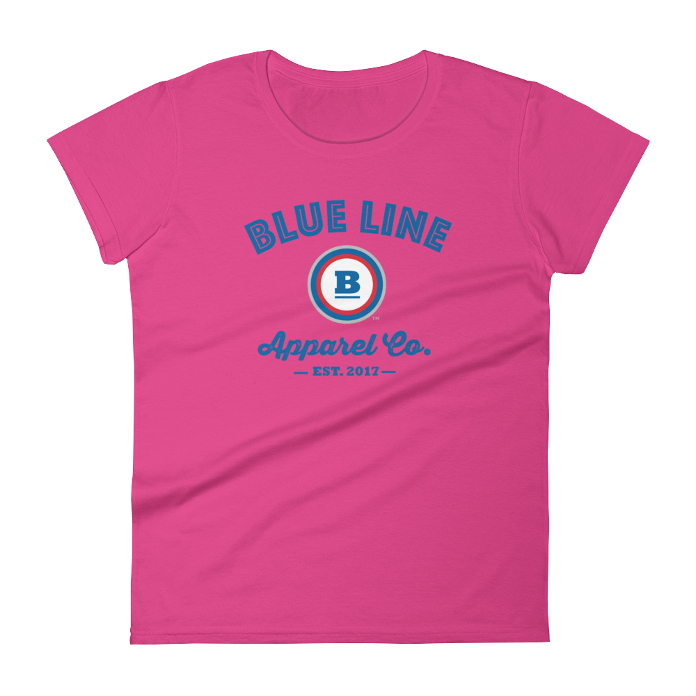 Blue Line Apparel Co. Women's T-shirt - Hot Pink