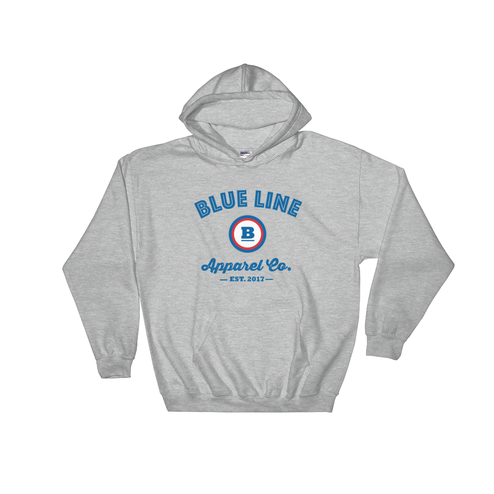 Blue Line Apparel Co. Hooded Sweatshirt - Sport Grey