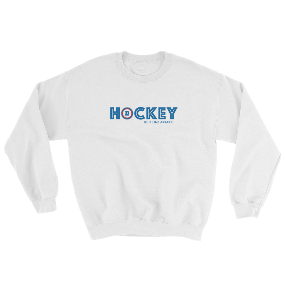 Hockey Crewneck Sweatshirt - White