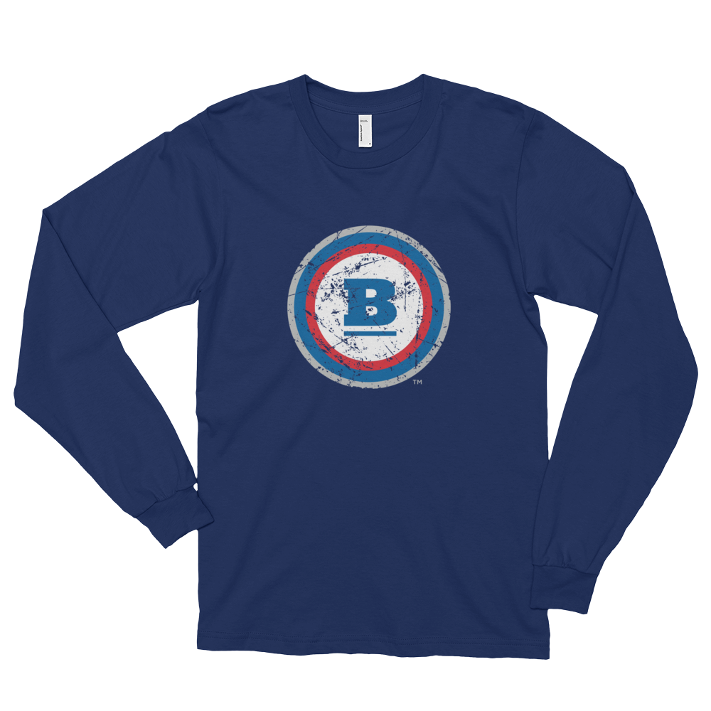 Circle B Ice Long Sleeve T-shirt - Navy