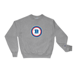 Champion® Circle B 'Ice' Crewneck Sweatshirt - Oxford Grey