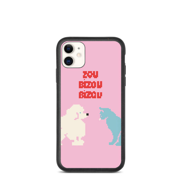Cat and poodle Biodegradable iphone case