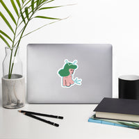 Alien naked girl water resistant sticker