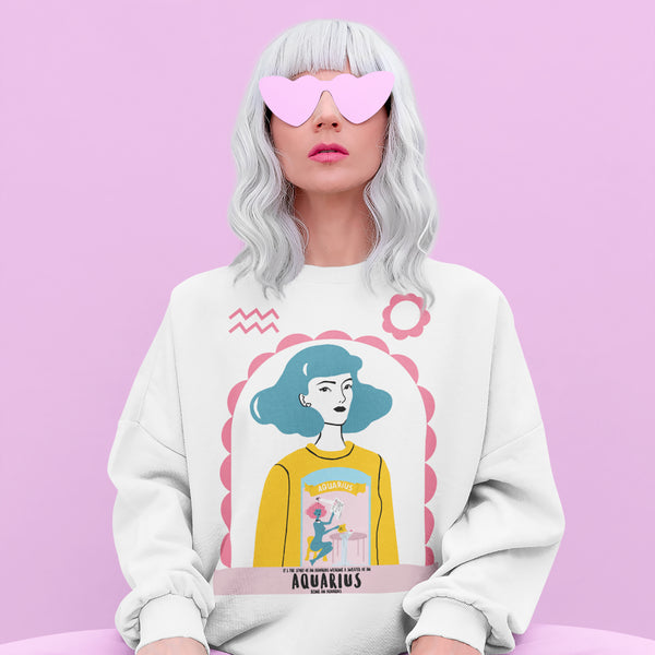 Aquarius in Aquarius Unisex Sweatshirt