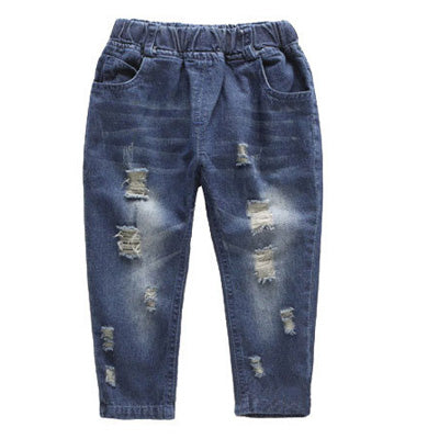Fashion Denim Ripped Jeans for Baby Boys