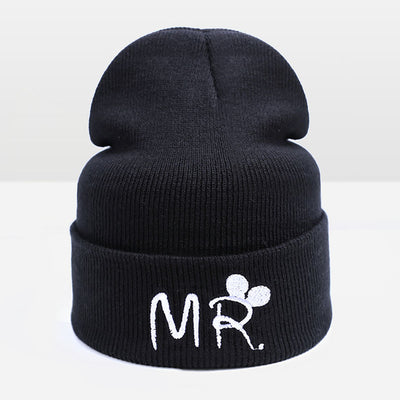 Winter Knitted Hat for Kids Letter Print