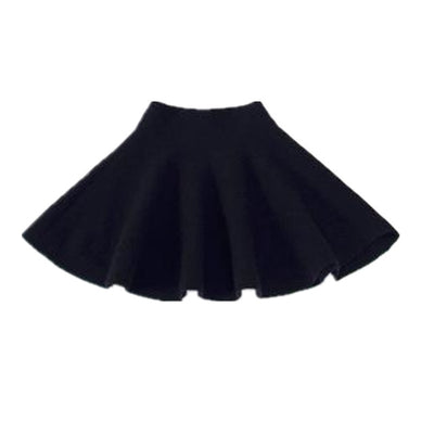 Solid Knitted Kids Skirt