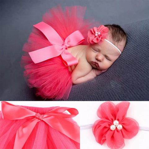 Newborn Photography Props Bow Knot Baby Tutu Skirt