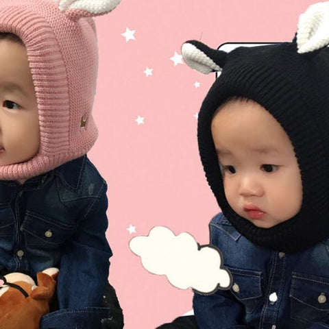Cartoon Style Ear Crochet Knitted Caps for Kids