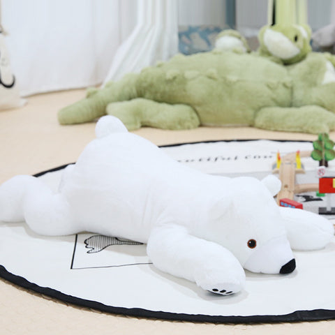 Plush Polar Bear Pillow