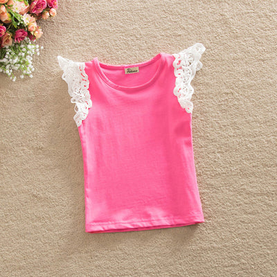 Baby Girls Princess Lace Flying Sleeve