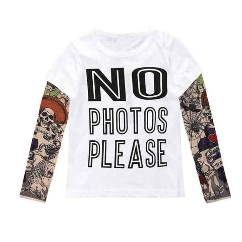 Tattoo Print Long Sleeve T- shirts for Toddler