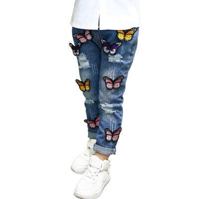 Butterfly Jeans For Girls